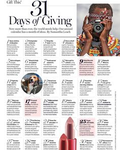 LOVE this!!! December issue of @glamourmag  We really have to start giving  guys  not just meaning people in your list  but really helping causes we believe in #magazine #fashion #gifts #December #Thursday #AxArtMx #AxArt #axartattitude #actitudaxart