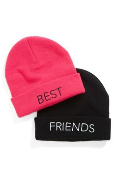 BP. 'Bestie' Beanie Set (Set of 2) (Juniors) available at #Nordstrom