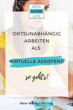 Working anywhere as a virtual assistant? You can find out how in an interview with Saskia, mother of an almost Influencer Marketing, Affiliate Marketing, How To Make Money, How To Become, Money Pictures, Im Online, Job Info, Diy Projects For Beginners, Earn Money Online