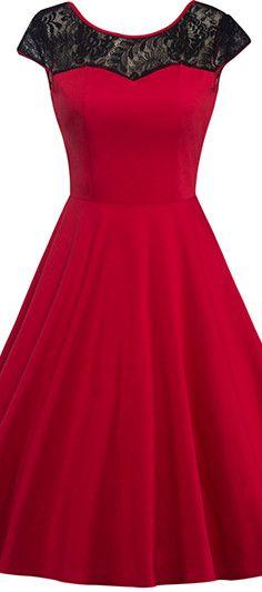 $23.62 Lace Back-V Hidden Zip Dress