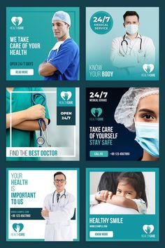 Healthcare Social Media Post Layout SetAll fonts, shape and others element are very easy to customizeWell Customized Layered PSD FileFeatures:===============- Social Media Branding, Social Media Poster, Social Media Banner, Social Media Template, Social Media Design, Social Media Graphics, Social Media Marketing, Mobile Marketing, Marketing Strategies