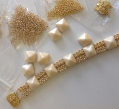 gold and cream bead kit