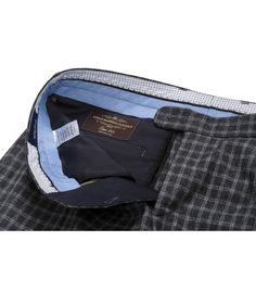 BeneventoCLTH.com Woolen Flannel in Grey Check from Vitali Barberis Canonico, Truely Classic Men's Flannel Trousers