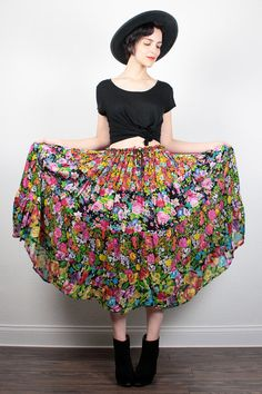 Vintage 90s Skirt Rainbow Mixed Print Floral GAUZE Midi Skirt Soft Grunge Skirt 1990s Skirt Boho Gypsy Hippie Skirt Indian Skirt S M L XL by ShopTwitchVintage #1990s #90s #floral #rainbow #etsy #vintage #gauze #indian #midi #skirt #boho #hippie #softgrunge