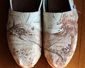 Lord of the Rings/ Hobbit Custom TOMS--so cool! Best gift ever!