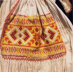 Hello all, Today I will talk about one of the most colorfully embroidered costumes of Slovakia, That of the village of Čičmany and v. Polish Embroidery, Folk Embroidery, Folk Costume, Costumes, Costume Dress, Cutwork, Ethnic Fashion, Girls Wear, Traditional Outfits