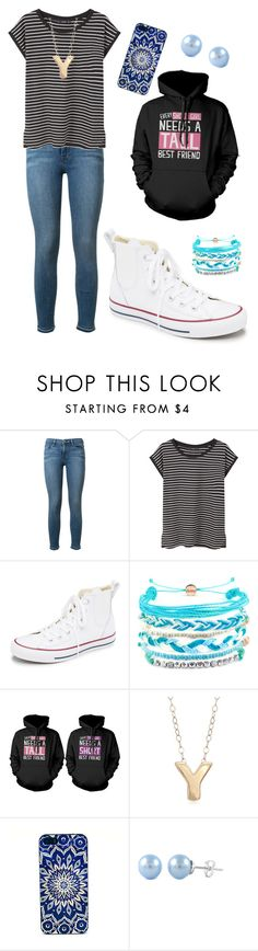 """""""Yvette"""" by hershyeststylist ❤ liked on Polyvore featuring Frame Denim, MANGO, Converse, Domo Beads and Ross-Simons"""