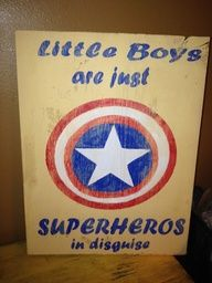 little boys are just superheroes in disguise - Carter!!!