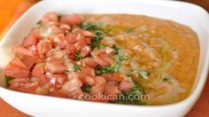 Best ful medames with tahini recipe ever! Here we use peeled fava beans to offset the richness of the tahini and mix in some delicious spice mix.