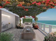 Miami Beach Edition Residences by John Pawson Luxury Penthouse, Luxury Condo, John Pawson, South Beach, Porches, Miami Beach Edition, Miami Beach Condo, Edition Hotel, Hotel Branding
