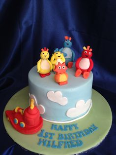 Meet the #twirlywoos!! Thomas Birthday, First Birthday Cakes, 2nd Birthday, Birthday Ideas, Twirlywoos Cake, No Bake Cake, Cbeebies Cake, Cake Board, Novelty Cakes