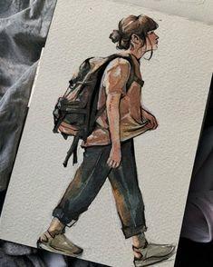 Watercolor Sketchbook, Arte Sketchbook, Watercolor Paintings, Watercolor Art Face, Sketch Painting, Watercolor Portraits, Art Diary, Art Drawings Sketches Simple, Indie Drawings