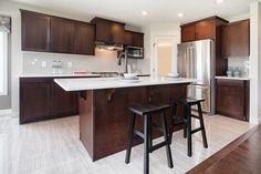 The open floor plan showcases the fantastic kitchen in this home!