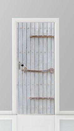 Deursticker+Planken+deur+-+28701318