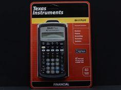 Texas Instruments BA II Plus Financial Calculator  $35.97          3388 #TexasInstruments