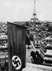 June 1940, the nazi flag is waving in Paris.