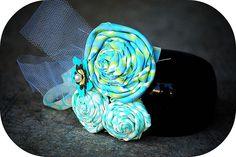 making fabric rosettes