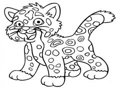 Click To See Printable Version Of Baby Jaguar Coloring Page