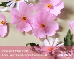 Paper Artist: Susan Beech from A Petal Unfolds Crepe Paper / Carta Crespa: Cartotecnica Rossi