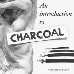New to charcoal? Not sure what the difference is between willow charcoal, charcoal pencils and sanguine? Let Sophie Furse show you how to get up and running quickly with an introduction to the materials you need and basic techniques. You'll then bring eve Charcoal Drawing Tutorial, Charcoal Sketch, Charcoal Art, Charcoal Drawings, Drawing Lessons, Drawing Techniques, Drawing Tips, Manga Drawing, Drawing Ideas