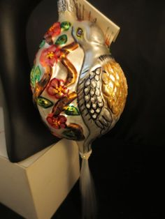 """Christopher Radko Signed 1994 """"Two Turtle Doves"""" Ltd Ed #3652 NEW w/TAGS & BOX"""