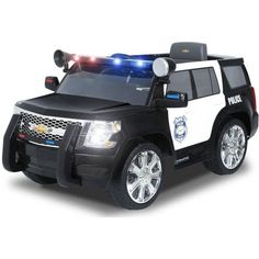 Race to the rescue with the Rollplay Chevy Tahoe Police SUV Ride-On. Your child will have endless fun riding around in this unique police SUV, which looks just like the real thing and is packed with realistic features. Police Truck, Police Cars, Police Officer, Kids Atv, Toy Cars For Kids, Electric Scooter For Kids, Electric Cars, Disney Cars Toys, Best Christmas Toys
