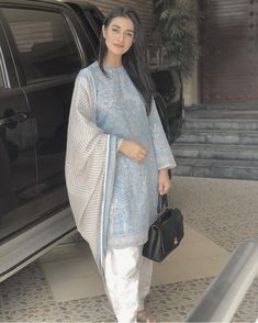 Image may contain: 1 person, standing Source by lakhvirb Outfits indian Simple Pakistani Dresses, Pakistani Dress Design, Simple Dresses, Casual Dresses, Women's Casual, Casual Outfits, Pakistani Fashion Party Wear, Pakistani Outfits, Indian Outfits