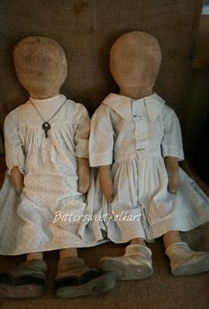 Charlotte and Maddy ...Rag dolls  Www.Bittersweetfolkart.com  to purchase ~