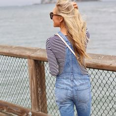 Always near the ocean 💙 How adorable is this $10 striped bodysuit + under $100 overall combo?! It was perfect for exploring San Francisco this weekend! Shop it all right here: http://liketk.it/2sjaj OR screenshot/like this photo then open the @liketoknow.it app on your phone for ready-to-shop details! #liketkit #LTKunder100 #LTKunder50  via ✨ @padgram ✨(http://dl.padgram.com)