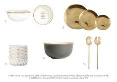 Vaisselle ambiance dorée