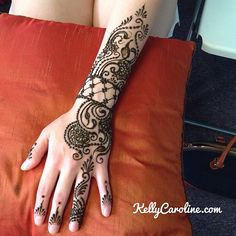 She wanted a symmetrical cuff design going down to the ring finger. #henna #michigan #kellycaroline