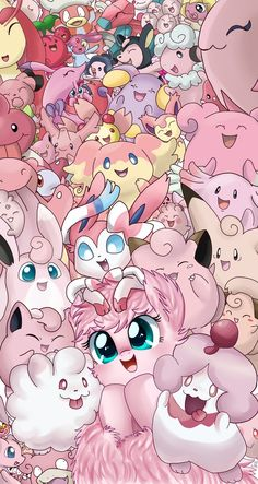 Pokemon Rosa, Pokemon Pink, All Pokemon, All Fairy Type Pokemon, Cute Pokemon Wallpaper, Cute Disney Wallpaper, Cute Cartoon Wallpapers, Types Of Fairies, Fairy Types