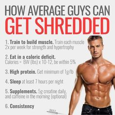 HOW TO GET SHREDDED? You can get shredded in six easy steps. The formula is simple! Train to build muscle. You want to hold on to your muscle during your cut? Train to build muscle. Train each body part per week. The first time, train for strength and Shred Workout, Gym Workout Tips, Easy Workouts, Get Shredded Workout, 10 Week Workout, Ripped Workout, Gym Tips, Workout Men, Workout Plans