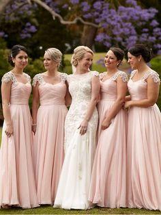 Cap Sleeve Pink Modest Mother of Bride Dress Beaded Long Bridesmaid Dresses#promdress #eveningdresses #eveninggowns #formaleveningdresses #bridesmaiddress#ballgown#motherofthebridedresses