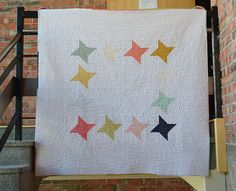 Halcyon by shecanquilt. Use 9.5 unfinished friendship stars.