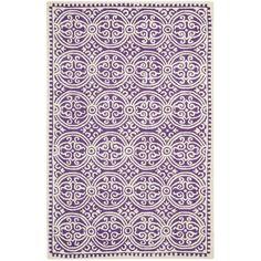 Handmade Cambridge Moroccan Purple Wool Rug | Overstock.com
