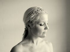 wedding headband bridal headband tiara Lady by gadegaarddesign, $110.00