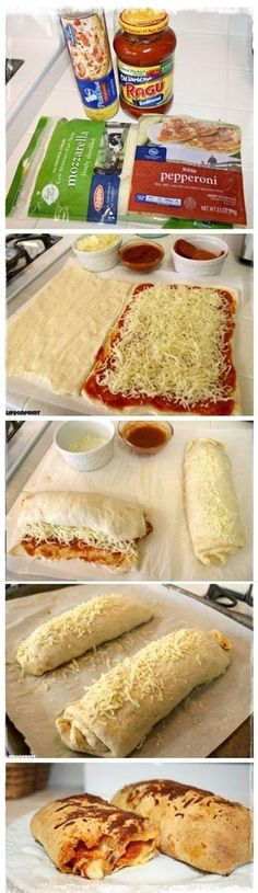 Easy Pizza Roll-Ups Recipe.