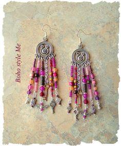 Boho Gypsy Style Earrings, Fairytale Assemblage Earrings, Chandelier Earrings, Bohemian Jewelry, BohoStyleMe, Kaye Kraus by BohoStyleMe on Etsy