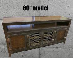 Rustic Reclaimed Wood Industrial Media Cabinet 043 by IndustEvo
