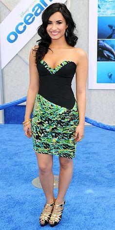 Demi Lovato: Dress – BCBG  Shoes – Pierre Hardy