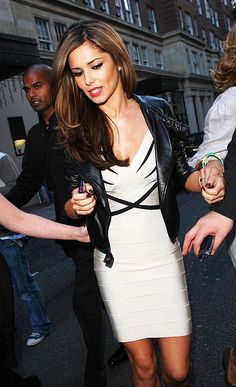 Cheryl Cole White Herve Leger i love her hair!