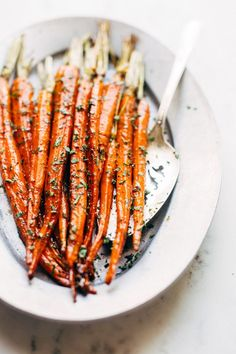 Learn how to make brown butter honey glazed carrots. They are the perfect easy and flavorful side dish to make for Easter, Thanksgiving, or Christmas!