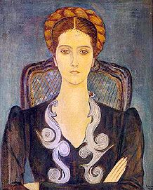 Arpad Szenes, (Hungarian-French, 1897-1985) painted wearing Schiaparelli