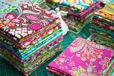 Amy Butler's fabric is gorgeous. I think I could start a collection of just fat quarters!