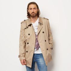 manteau pincon beige manteau homme izac trench imperm able printemps collection. Black Bedroom Furniture Sets. Home Design Ideas