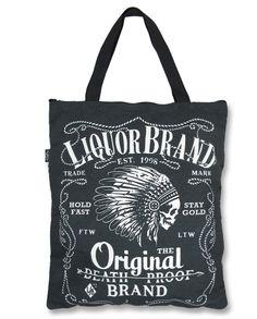 Liquor Brand FIREWATER Accessories Bags-Tote - Oldschoolandrockabillyshop 207c240ef4