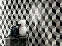 Painel de parede 3D em massa de cerâmica branca MARVEL PRO WALL DESIGN Coleção White-body wall tiles by Atlas Concorde
