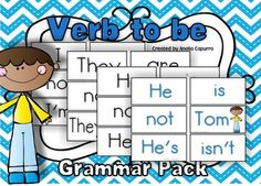 Use this Grammar Print & Go Pack to practice or review the verb to be to express existence in your pocket chart center.  You will find black and white cards as well as color version. Plus follow up worksheets  Don't forget to follow me so you can be updated with newbies and freebies!