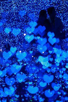 Blue hearts.